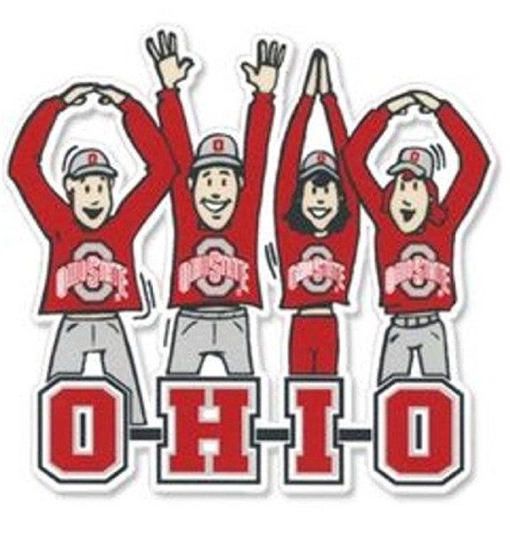 O-H-I-O State Buckeye Fans Magnet
