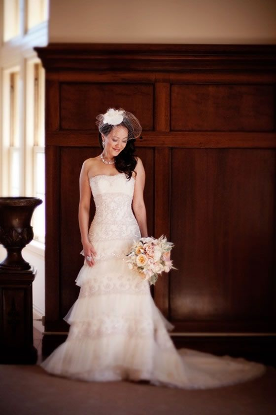 Gorgeous wedding gown by Maggie Sottero {and gorgeous photo by Julie Mikos!}