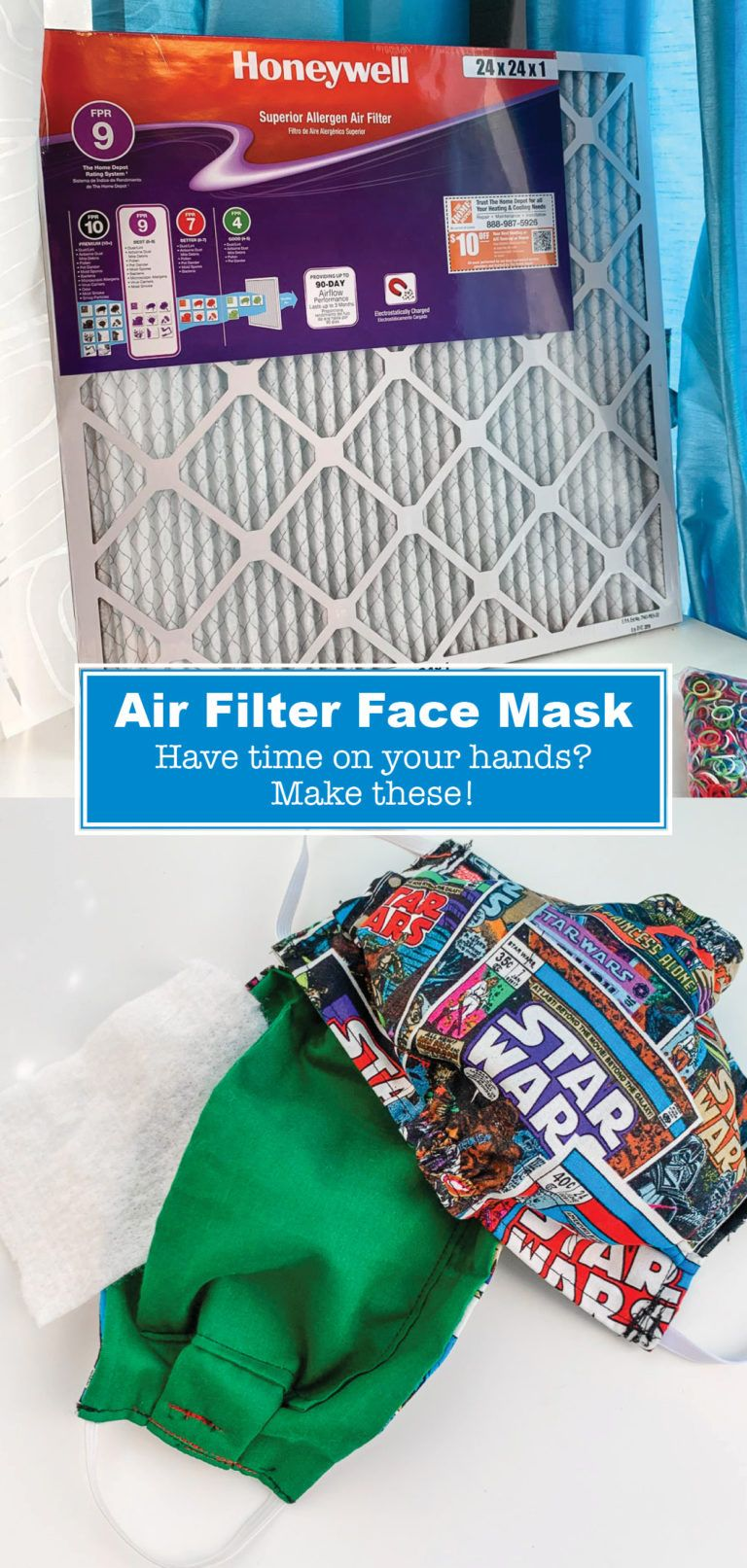 How to Make a Face Mask With A Filter Diy mask, Homemade