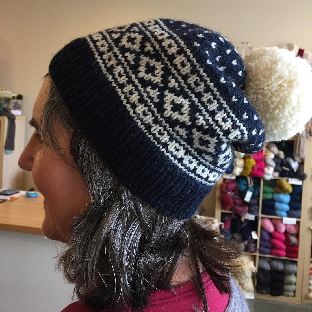 ballard hat in new yarn scout - we love it! #ballardhat