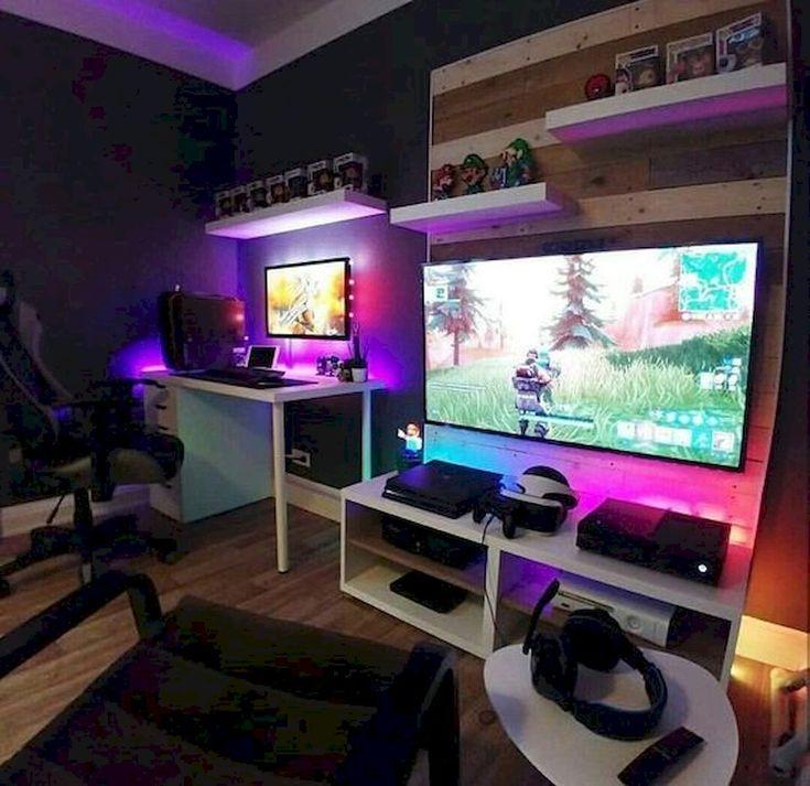 45 Fantastic Computer Gaming Room Dekor Ideen und Design