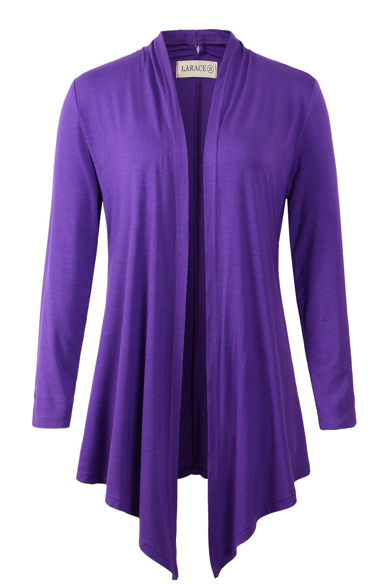 b5e665ba3ab3 larace women open front cardigan plus size drape long sleeve lightweingt  cardigans