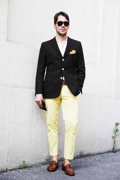 yellow&black jacket