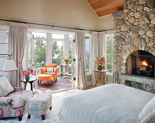 Master Bedroom Ideas With Fireplace sunroom off of bedroom! gorgeous! | beautiful homes inside and out