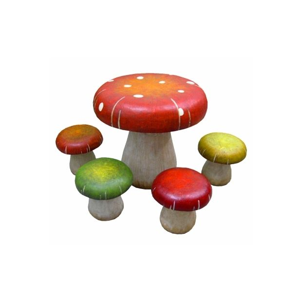 I want this Alice in Wonderland toadstool table and stool set!! So ...