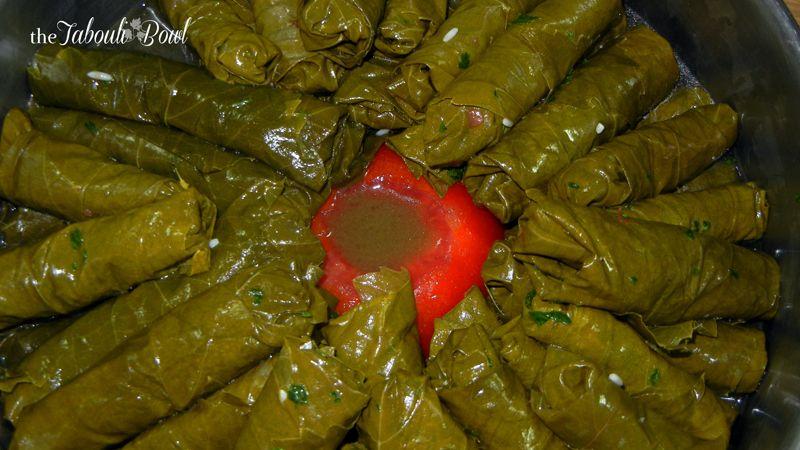 Stuffed Grapevine Leaves Vegetarian ورق عنب بالزيت Vegetarian Cooking Recipes Lebanese Recipes