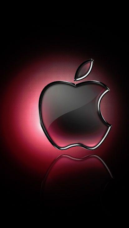 Appleロゴ ブラック レッド 人気壁紙 シンプル クールでかっこいい壁紙 Iphone Androidスマホ壁紙 待ち受け画像 画像あり 壁紙 スマホ壁紙 かっこいい壁紙