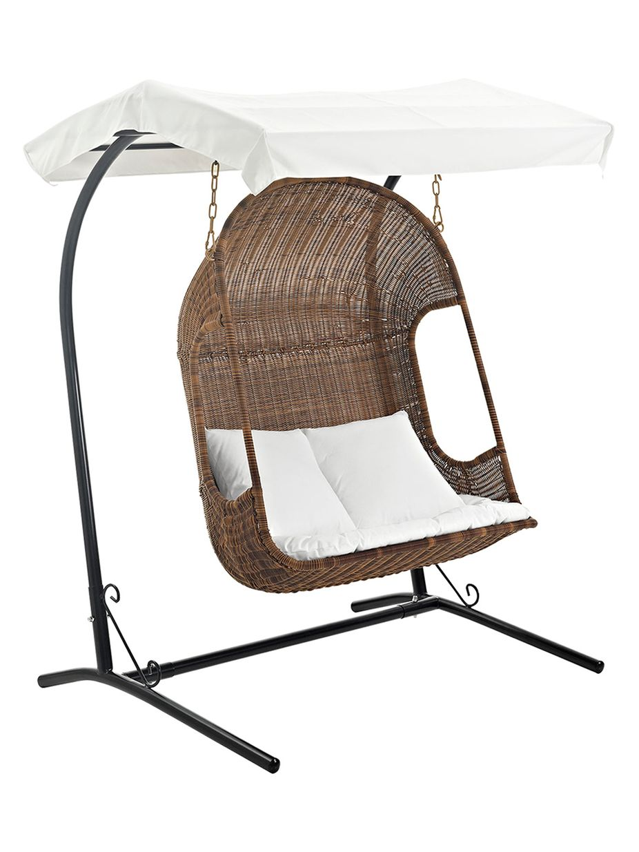 Modway outdoor vantage patio swing chair and stand set pc h