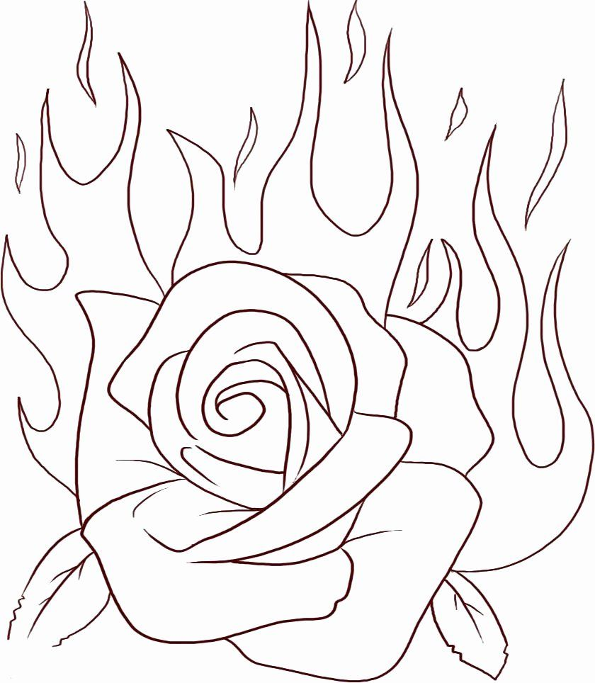 Coloring Page Cartoon Rose Unique The Best Free Flame Coloring Page Images Download From 104 Rose Coloring Pages Princess Coloring Pages Coloring Books