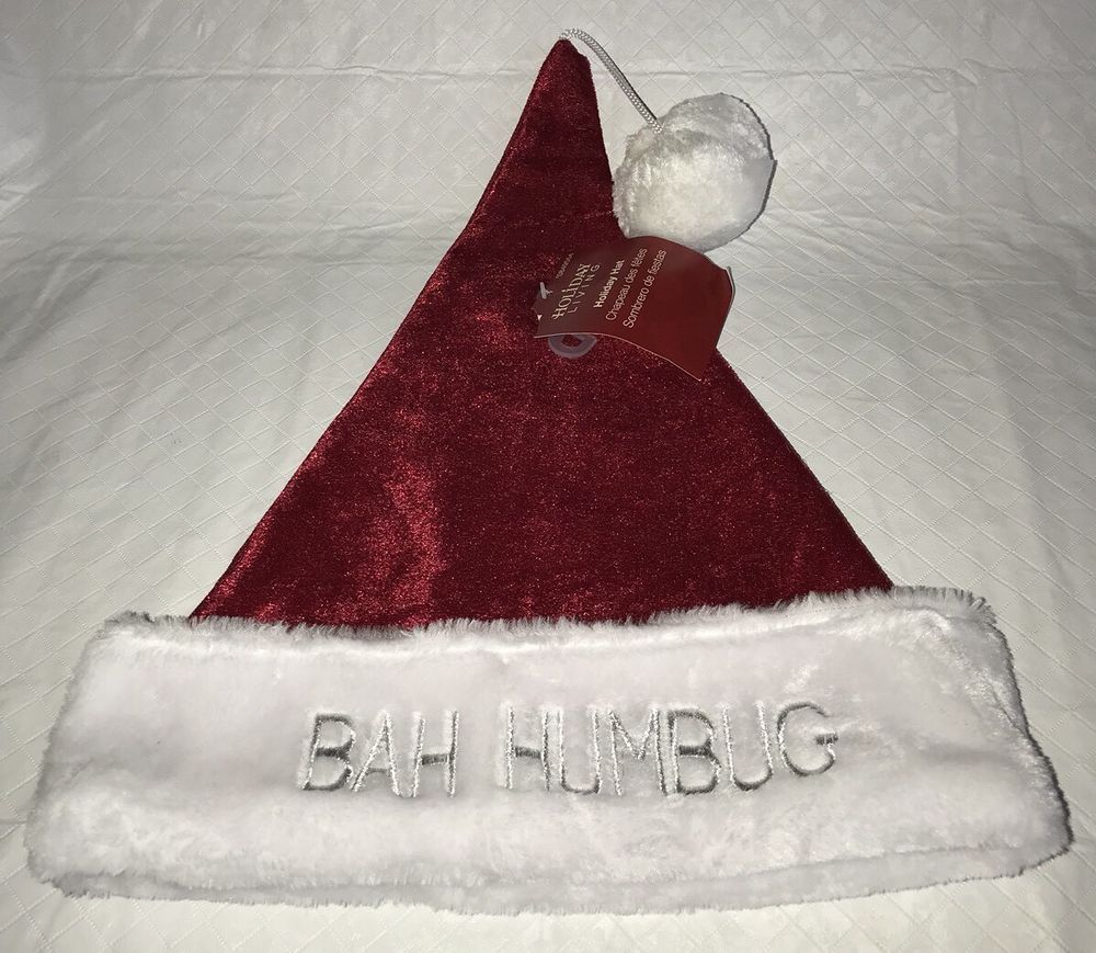 5ca105752c151f NEW HOLIDAY LIVING HOLIDAY HAT SANTA BAH HUMBUG RED WHITE PARTY #fashion  #clothing #shoes #accessories #costumesreenactmenttheater #accessories  (ebay link)