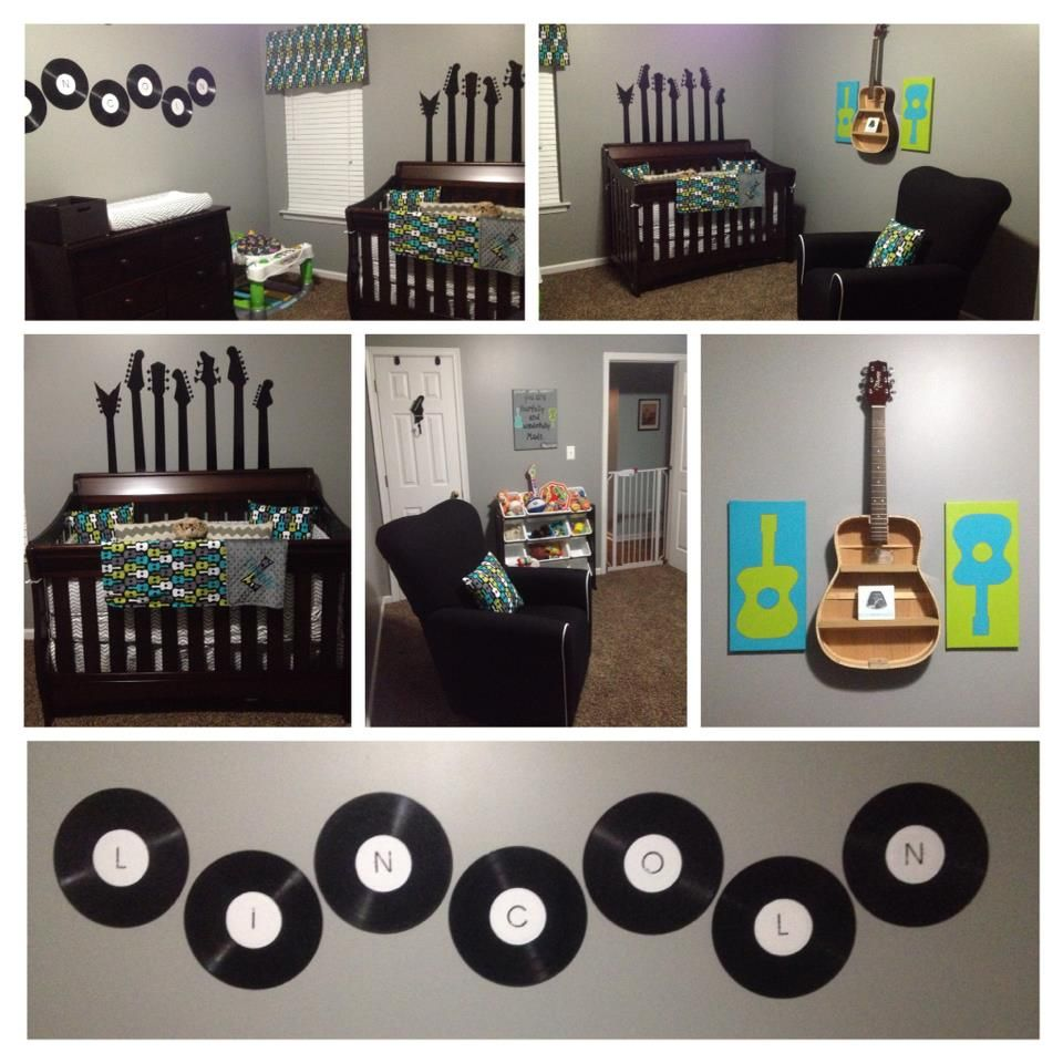 Lincolnu0027s Guitar/Rock In Roll Themed Nursery
