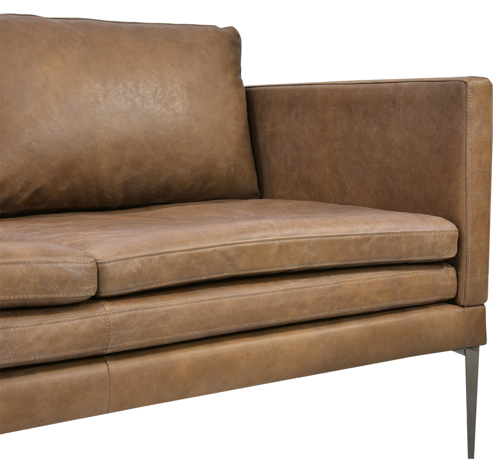 Portland 3 Seater Leather Sofa in 2019 | 3 seater leather ...