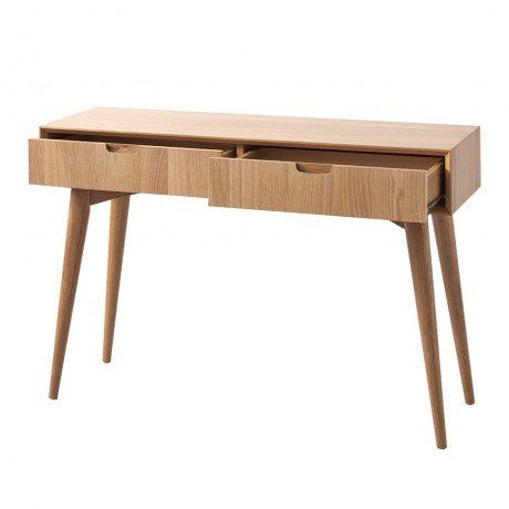 Oak Danish Style Console - Natural Nordic - Temple  Webster