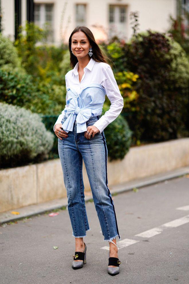 10 идей, как по-новому носить белую рубашку | Модные стили ...