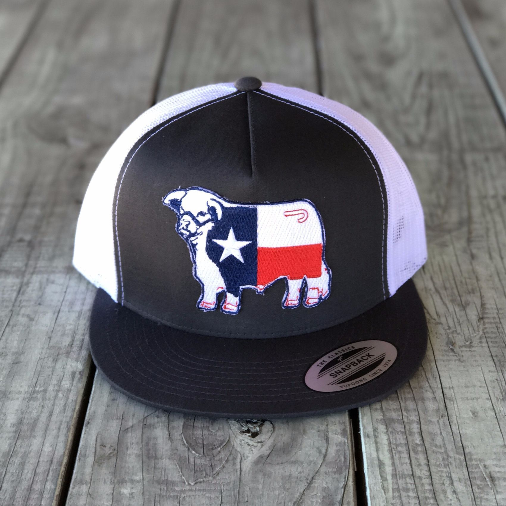 Lazy J  Ranch Wear  Snap Back Cap Rodeo Silver Home Sweet Texas  Trucker