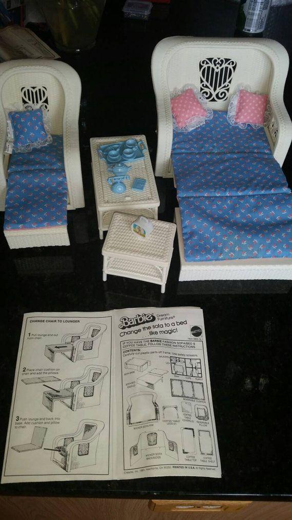 1983 Barbie Dream Furnitue Patio Set by Classof93 on Etsy