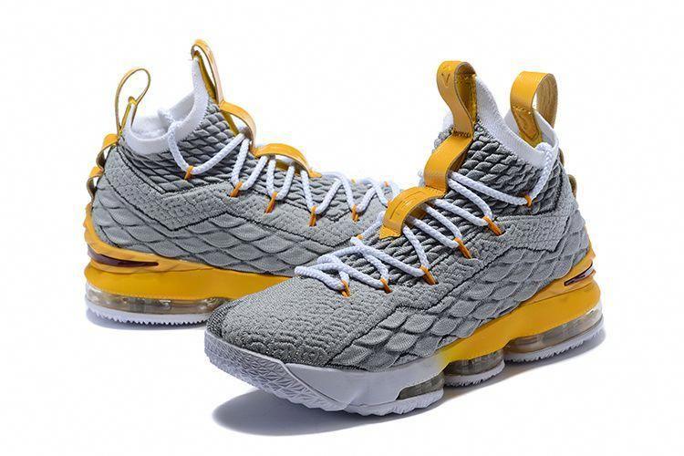 84ca49b47547c Comfortable Nike Lebron XV 15 EP Wolf Grey Olive Yellow Mens Basketball  Shoes James Sneakers  mensbasketball