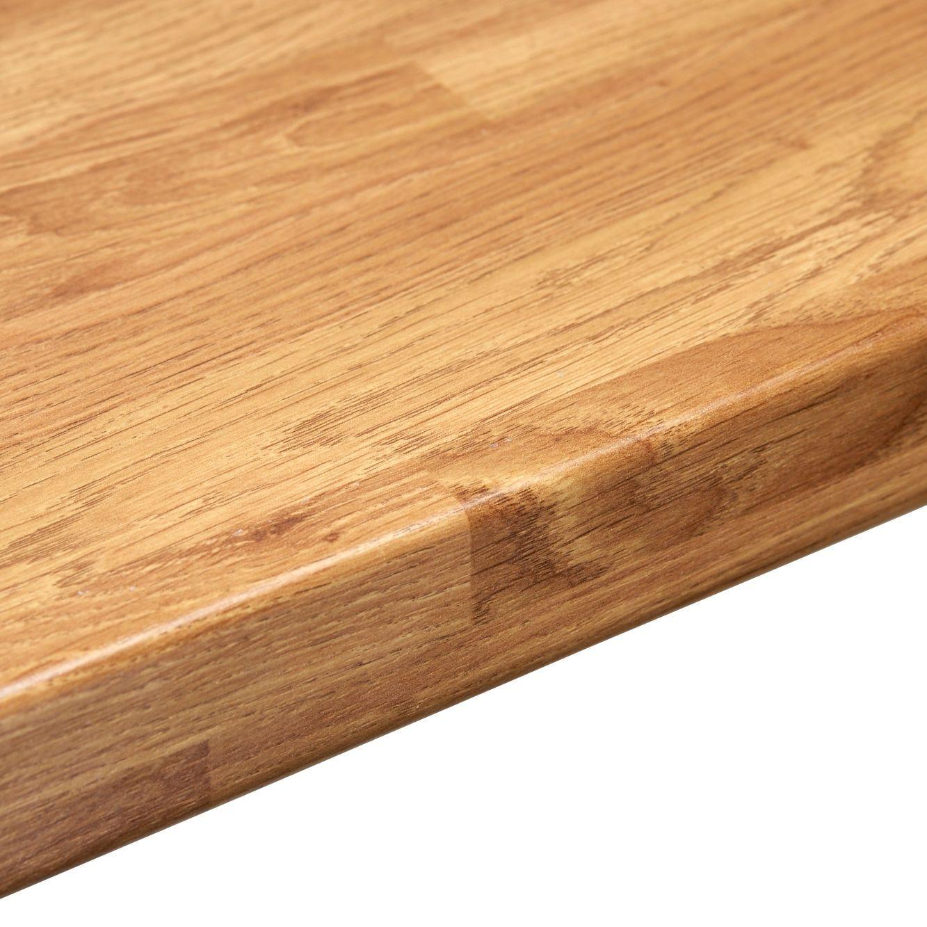 38mm B&Q Colmar Oak Laminate Post Formed 3mm Kitchen Breakfast Bar |  Departments | DIY at