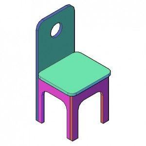 Kinderstoeltje bouwtekening   Bouwtekening, Stoel tekenen, Stoelen