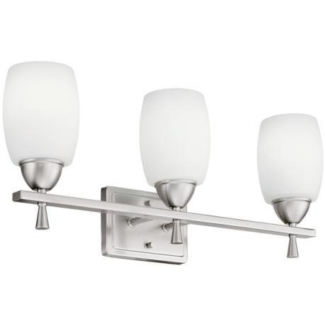 "Photo of Ferros ENERGY STAR 24 ""wide nickel bathroom mixer – # 26547 | Lamps Plus"