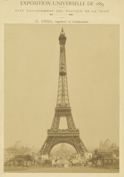 Image result for 1889 – the eiffel tower is officially opened