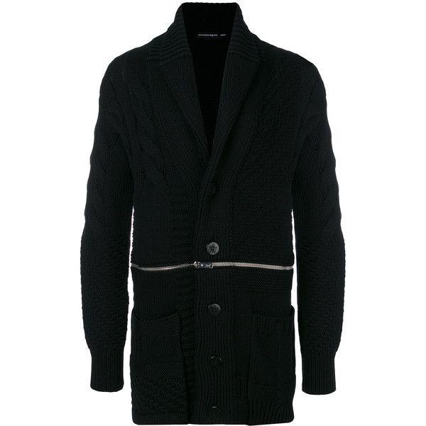 Alexander McQueen zip through cable knit cardigan ($2,285 ...