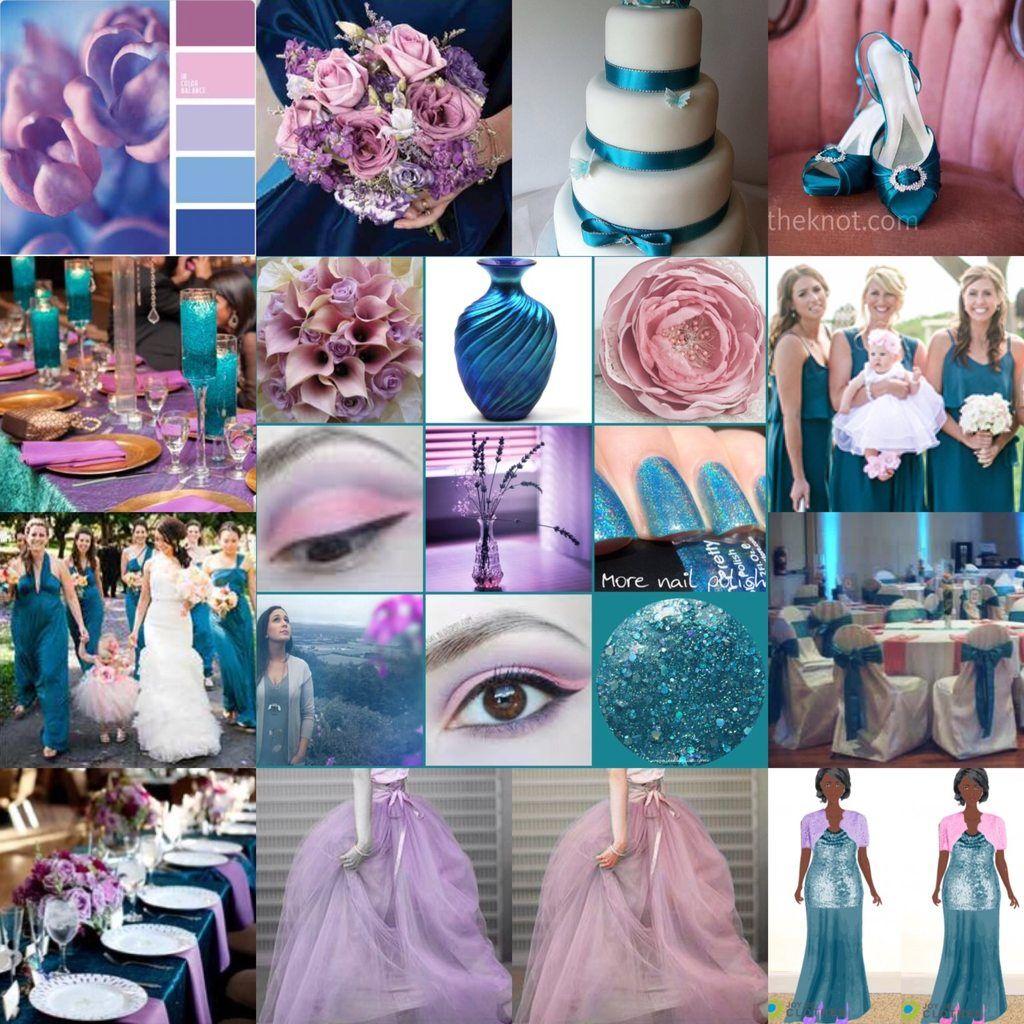 Color Palette Enchanted Evening Teal, Pink, Purple