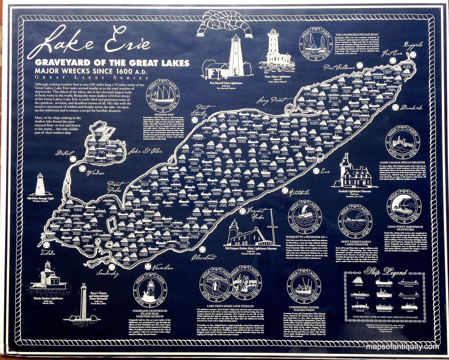 Lake Erie, Graveyard of the Great Lakes, Major Wrecks Since ... on map of the arctic, map of the staten island ferry, map of the new jersey, map of the weather, map of the great lakes ports, map of the hurricane, map of the north carolina,