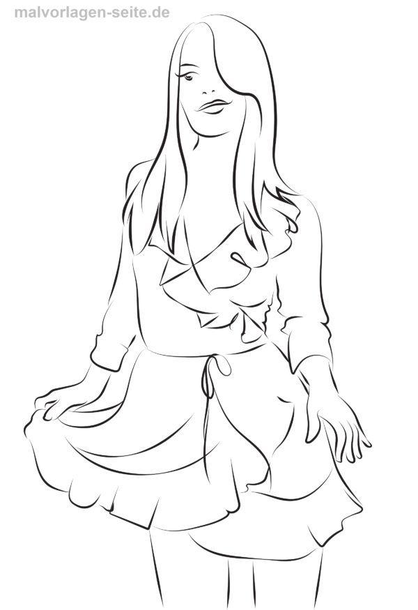 Malvorlage Kleid Ausmalen Malvorlagen Ausmalbilder