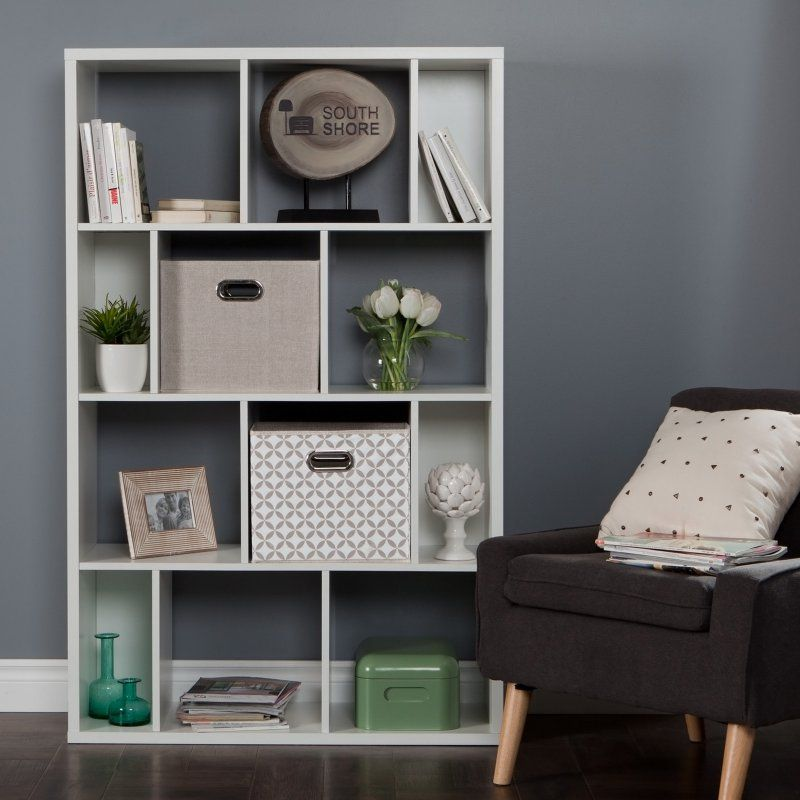 Reveal 12 Cube Shelving Unit with 2 Fabric Storage Baskets by South Shore - 8050153K