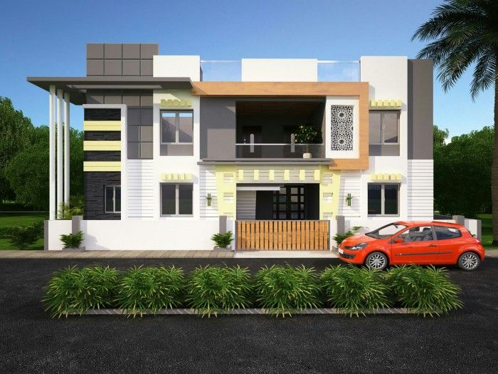 New Modern Front Elevation : New modern front elevation designed by ghar fachadas
