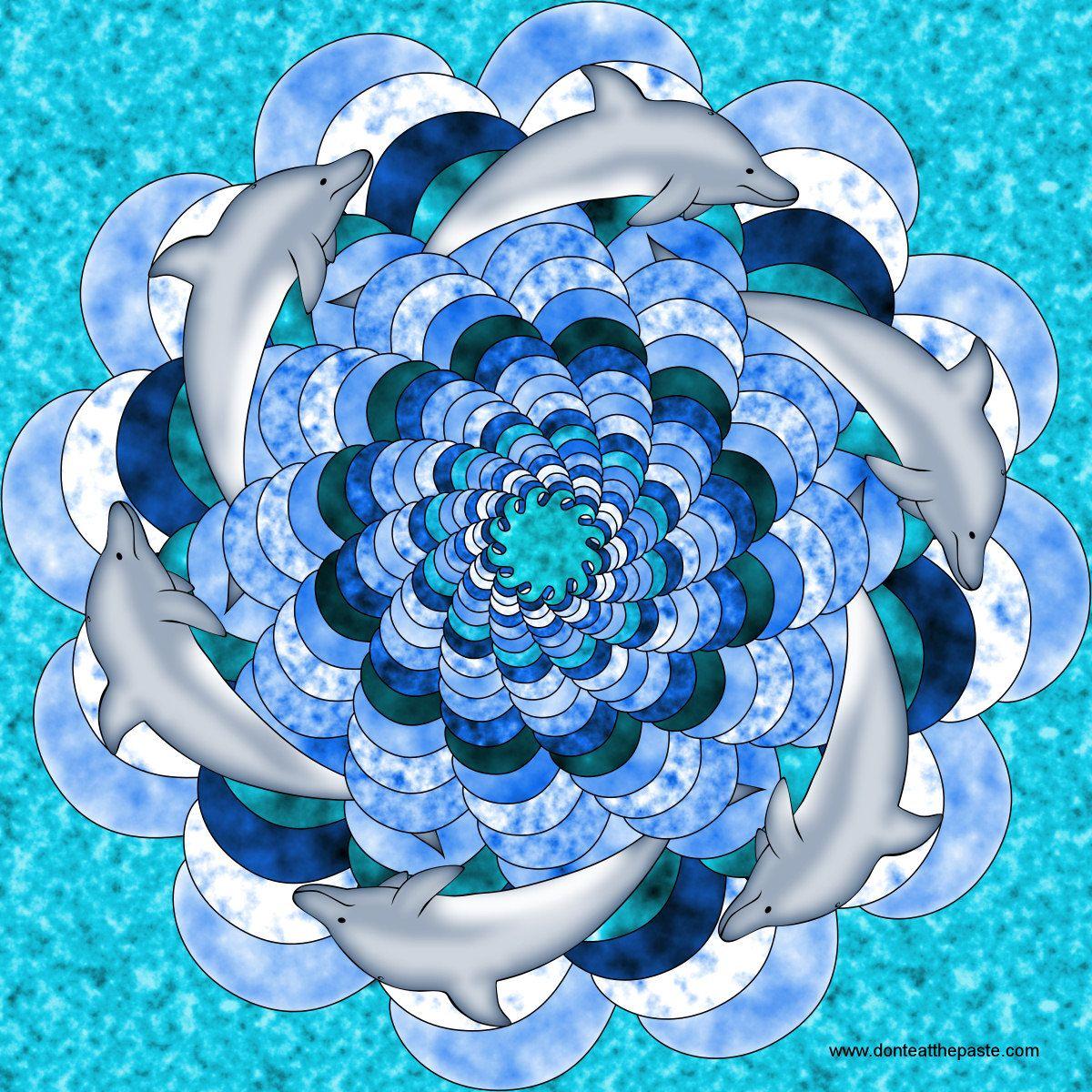 Dolphin Mandala to Color Mandalas