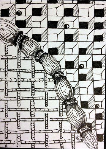 Atc Card Tangle Pattern Zentangle Patterns Atc