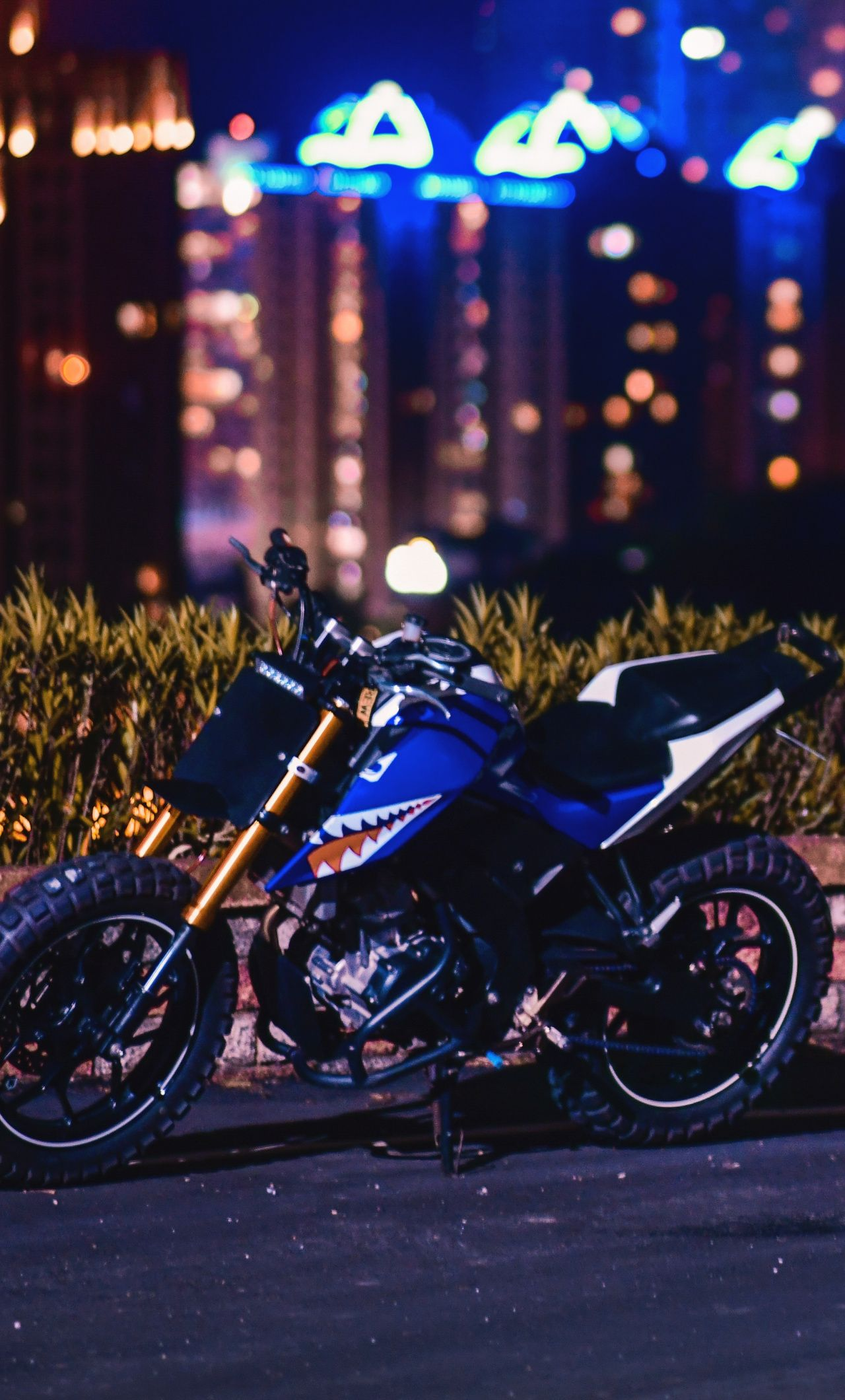 1280x2120 Sports Bike Night City Wallpaper With Images Sport