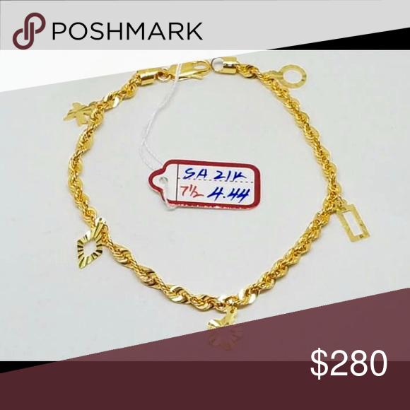 21 karats Saudi Gold NWT Gold jewellery Jewelry bracelets and Gold