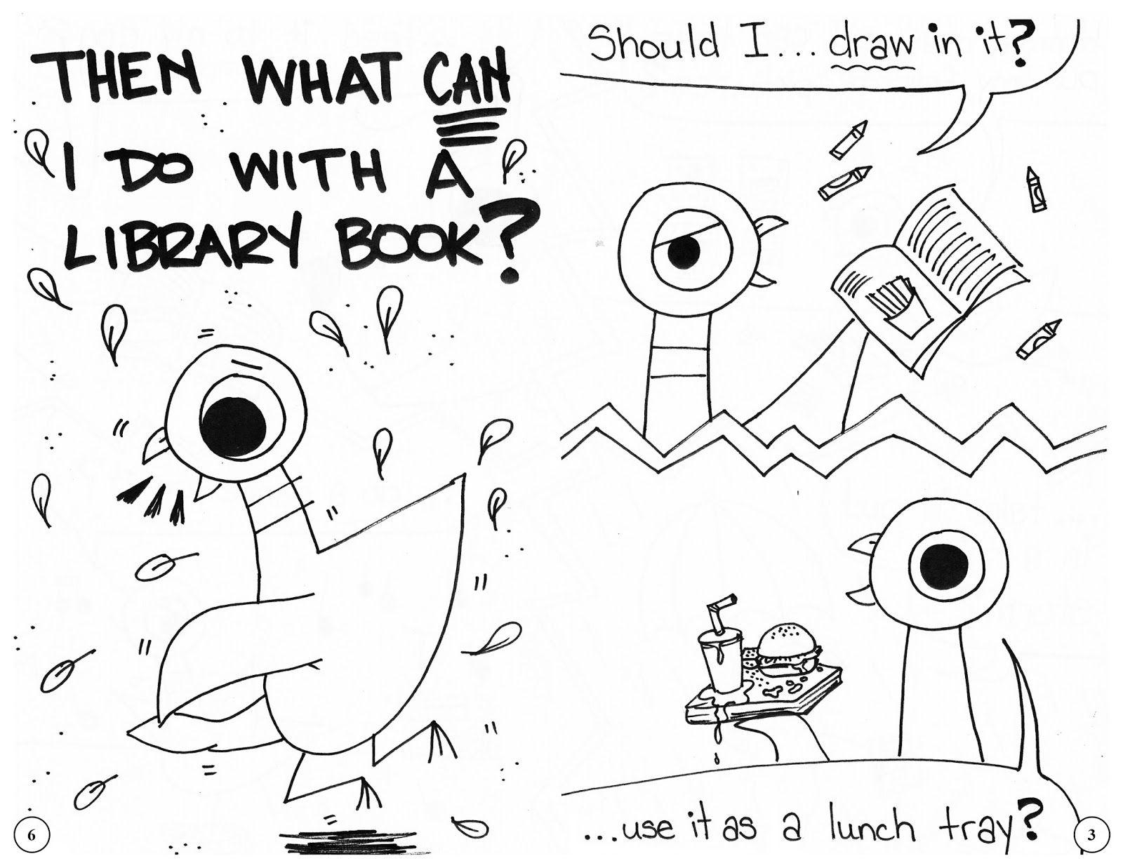 4 Bp Blogspot Com Cur8ztwdwui Vri4nysv6fi Aaaaaaaays4 Jdp25lo 9ye S1600 Pigeon 2bbook 2bpg 2b6 2ban Library Skills Kindergarten Library School Library Lessons