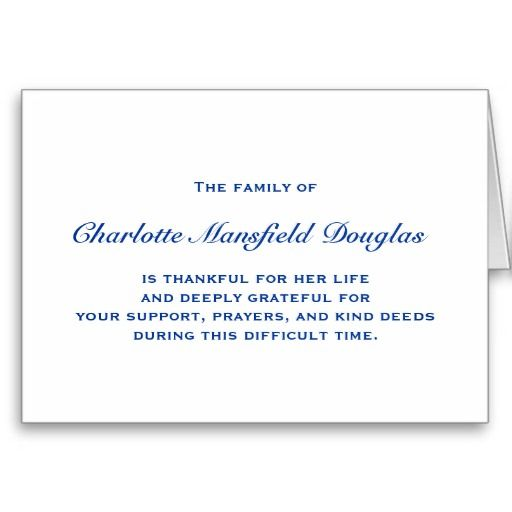 Bereavement And Sympathy Thank You Notes Card You Will Get Best