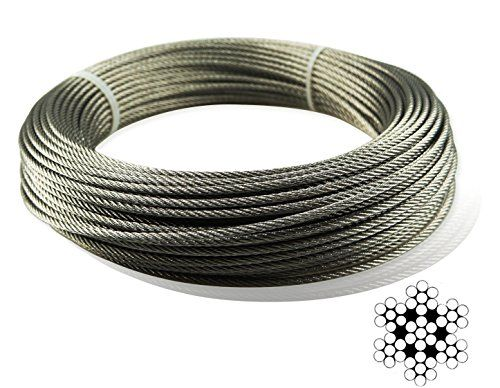Muzata Stainless Aircraft Steel Wire Rope Cable For Raili Https Www Amazon Com Dp B01n0n4 Stainless Steel Cable Railing Cable Railing Stainless Steel Wire