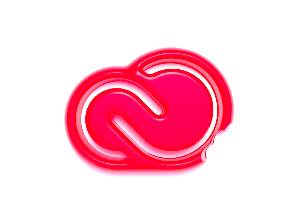 Adobe Creative Cloud Logo Gummy Style Adobe Creative Cloud Creative Cloud Graphic Trends