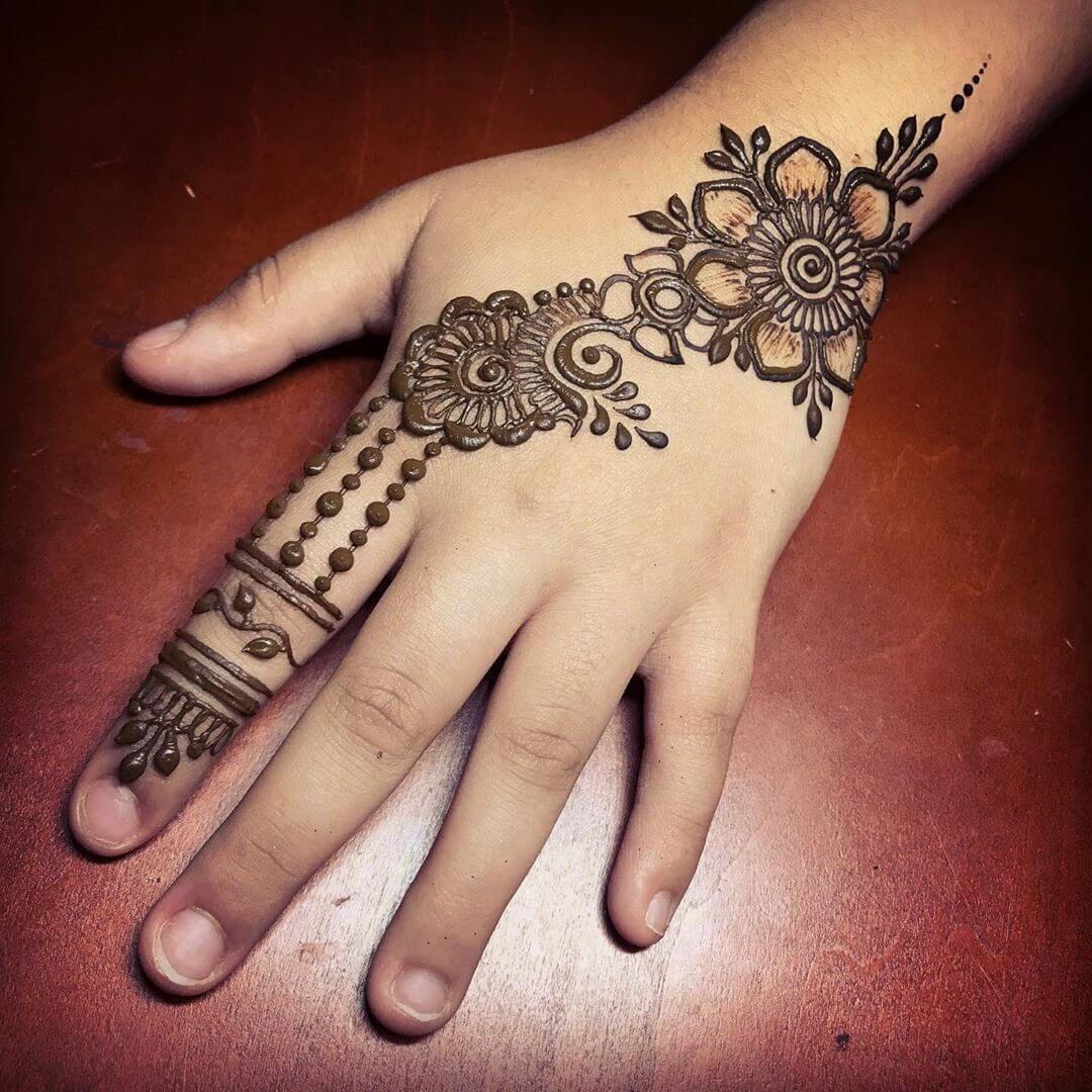 henna arabic mehndi design for kids