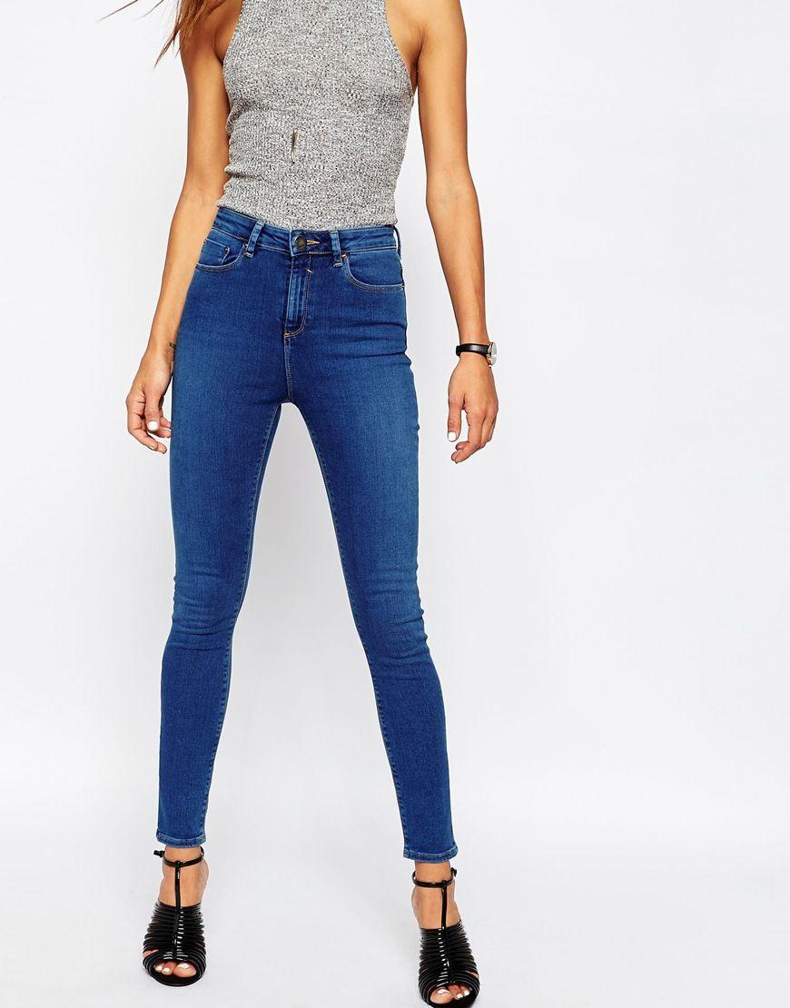 687528095a3d31 Ridley – Skinny-Jeans in Reef-Waschung mit hohem Bund | Fashion ...