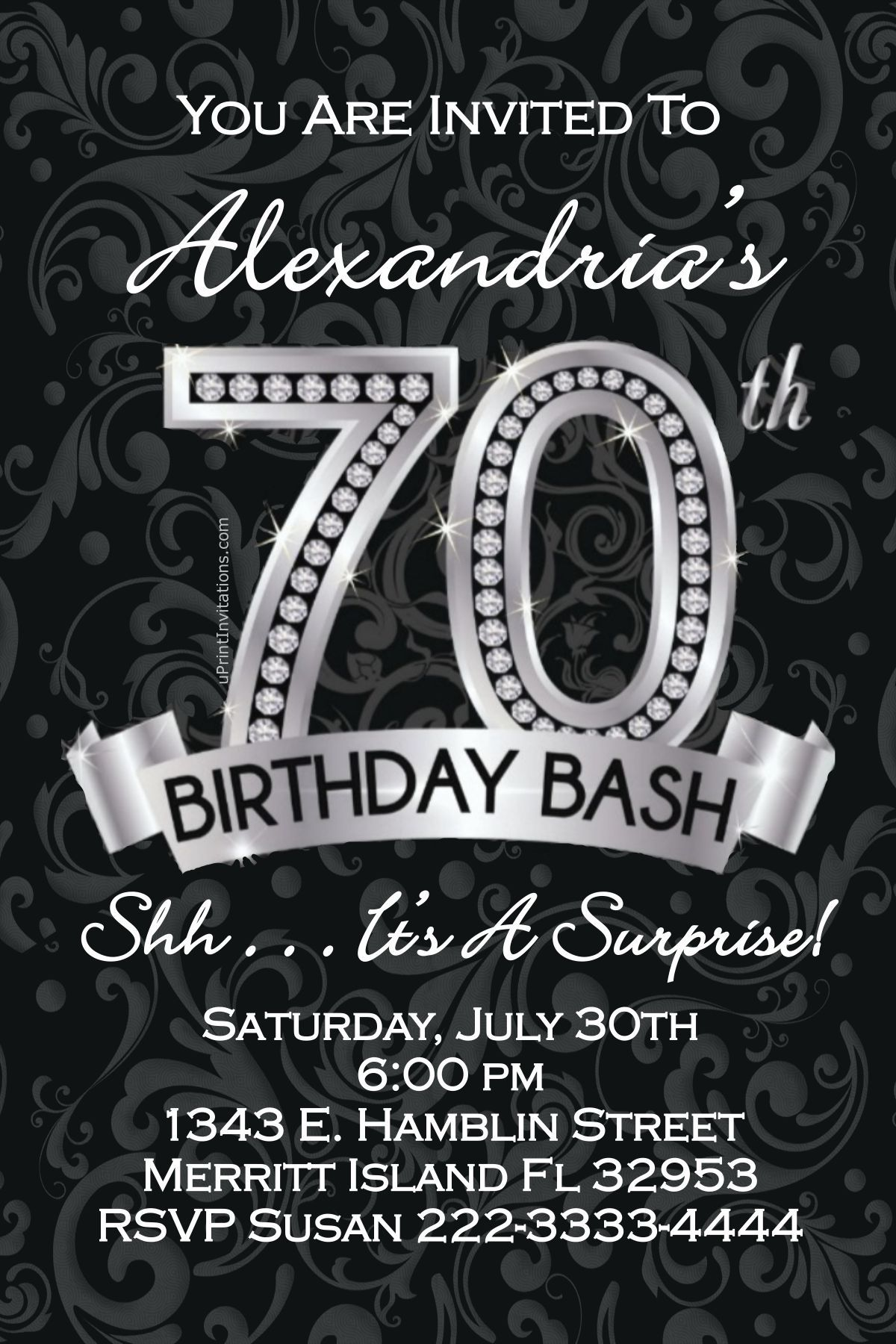70th Birthday Invitations - Digital Download - Get these invitations ...