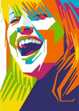Wpap Musician poster prints by Firman Alief | Displate | Displate thumbnail