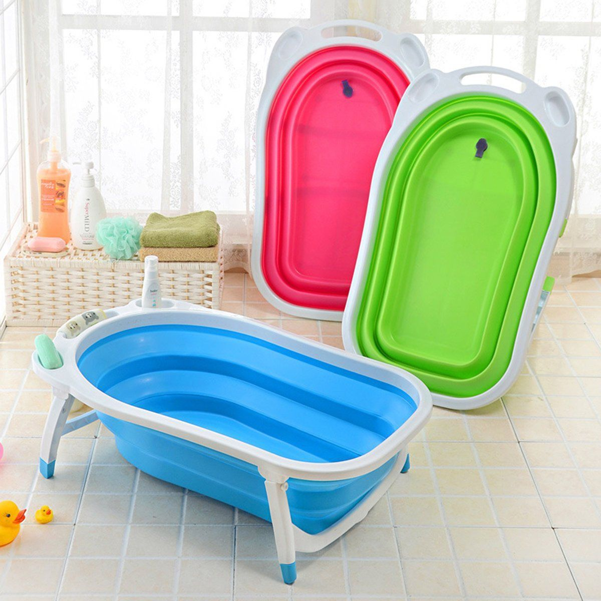 Baby Infant Newborn Bath Bathtub Bathing Folding Safety Foldable