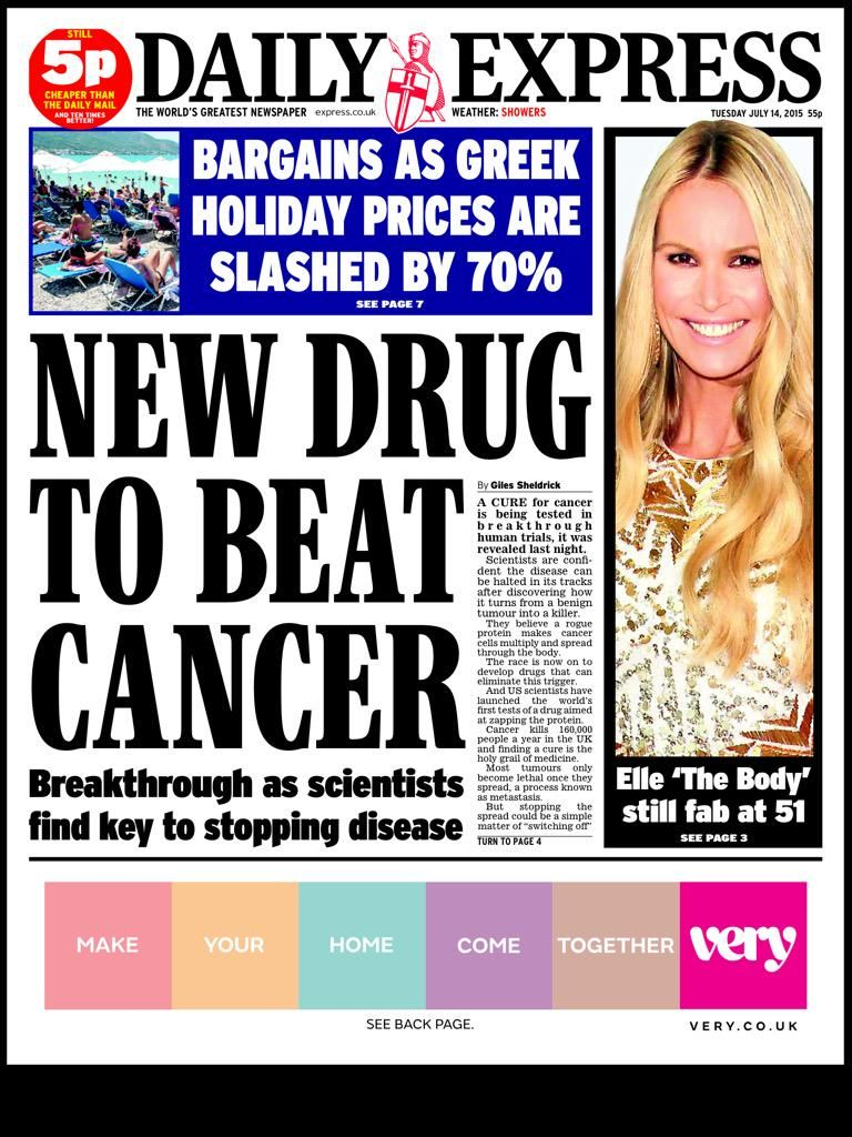 Neil Henderson on Daily express, The cure, Health