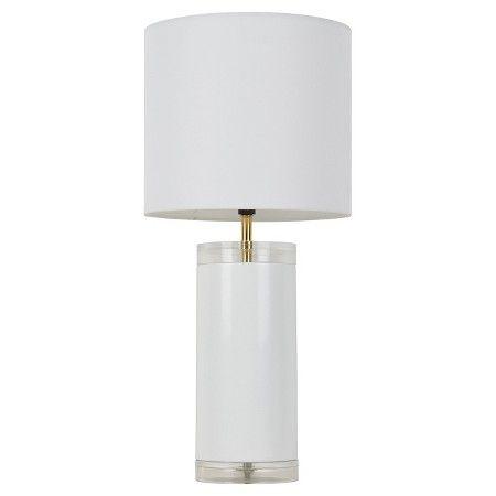 Acrylic Table Lamp Includes Cfl Bulb Room Essentials Target White Table Lamp Table Lamp Acrylic Table