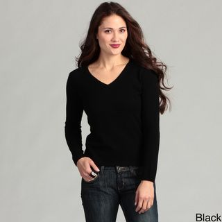 Oliver & James Women's Cashmere V-neck Sweater | Overstock.com ...