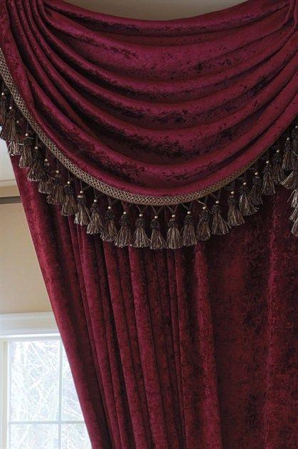 Valance Curtains Living Room Simple