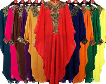 8e1ff3ded0 Moroccan Sheer Chiffon Kaftan Dubai Abaya Wedding Party Plus Size Maxi Dress  Gold Embroidery With Cuff