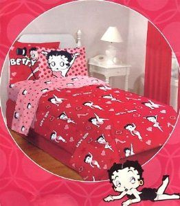 Charmant Betty Boop Bedroom Decor | Amazon.com: Betty Boop Poses   Girls Retro    Queen Bedding Set: Home .